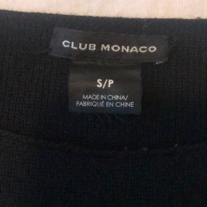 Club Monaco Sweaters - Club Monaco black wool sweater w/ leather detail